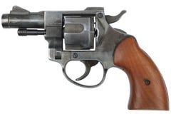 Револьвер на белизне Стоковая Фотография