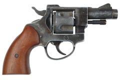 Револьвер на белизне Стоковые Изображения