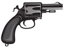 револьвер иллюстрация штока