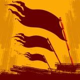 Революция поднимая стиль предпосылки пропаганды плаката флага иллюстрация вектора
