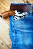 Револьвер в карманн Стоковая Фотография