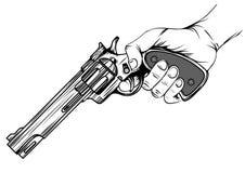 Револьвер в руке Стоковая Фотография