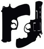 Револьвер и пистолет Стоковые Изображения RF