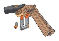 Револьвер и пули Стоковые Изображения