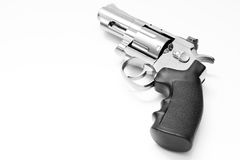 Револьвер на белизне Стоковые Фотографии RF