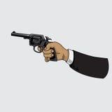 Револьвер оружия также вектор иллюстрации притяжки corel Стоковое Изображение
