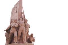 Революционные статуи на площади Тиананмен стоковое изображение