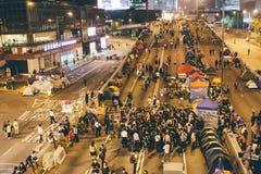 Революция зонтика в Гонконге 2014 Стоковые Фото