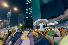 Революция зонтика в Гонконге 2014 Стоковое Изображение