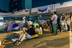 Революция зонтика в Гонконге 2014 Стоковое фото RF