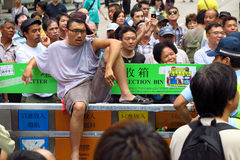 Революция зонтика в Mong Kok Стоковое Фото