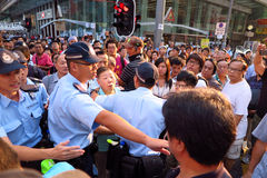 Революция зонтика в Mong Kok Стоковая Фотография