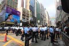 Революция зонтика Гонконга в Mong Kok Стоковое фото RF