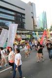 Революция зонтика Гонконга в Mong Kok Стоковое Фото