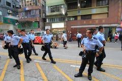 Революция зонтика Гонконга в Mong Kok Стоковые Фотографии RF