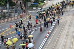 Революция зонтика Гонконга в Mong Kok Стоковые Фото