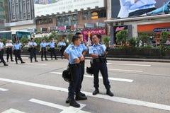 Революция зонтика Гонконга в Mong Kok Стоковые Изображения
