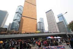 Революция зонтика Гонконга в Mong Kok Стоковая Фотография