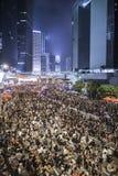 Революция зонтика, Гонконг Стоковая Фотография