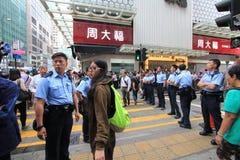 Революция зонтика Mong Kok в Гонконге Стоковые Фотографии RF