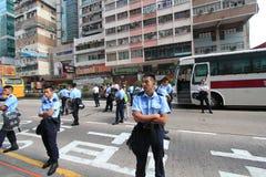 Революция зонтика Mong Kok в Гонконге Стоковая Фотография