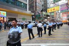 Революция зонтика Mong Kok в Гонконге Стоковые Изображения