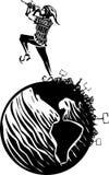 Революция пестрого волынщика ведущая Стоковые Изображения