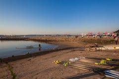 Регата каное весел rowing стапеля Стоковая Фотография RF