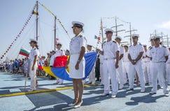 Регата 2016 кораблей Чёрного моря высокорослая, Constanta, Румыния Стоковая Фотография RF