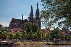 Регенсбург город в юговосточной Германии Стоковое Изображение RF