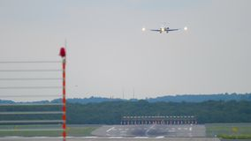 Региональный двигатель причаливая перед приземляться сток-видео