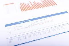 Региональная диаграмма продаж Стоковое Фото
