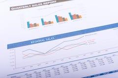 Региональные продажи Стоковые Изображения RF