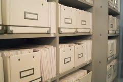 Регистратура или архив медицинских папок в зубоврачебной клинике Стоковые Изображения