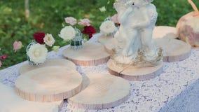 Регистрация мест свадьбы, floristics, аксессуары для свадеб день солнечный видеоматериал