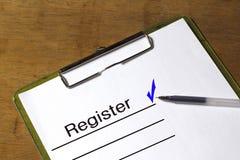 Регистр и контрольный список Стоковые Изображения RF