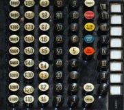 регистр наличных дег ключевой старый Стоковое Изображение RF