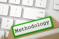 Регистр папки с методологией надписи иллюстрация 3d иллюстрация вектора