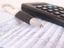 регистр платежных документов книги Стоковые Изображения RF