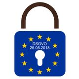 Регулировка защиты данных EUÂ новая общая Стоковое фото RF