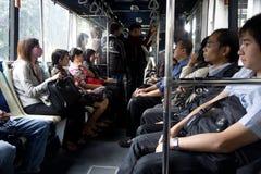 регулярные пассажиры пригородных поездов jakarta Стоковое Фото