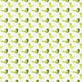 Регулярн безшовная картина с птицами Стоковые Фото