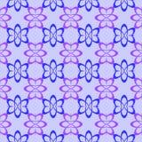 Регулярн безшовная картина с цветками Стоковые Изображения