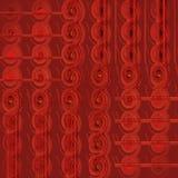 Регулярн картина спиралей в краснокоричневых вертикально перенесенных тенях Стоковое Изображение