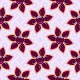 регулярн текстура 3D с стеклянными красными цветками Ювелирные изделия на розовой предпосылке вакханические иллюстрация вектора