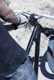 Регулировать handlebar велосипеда BMX Стоковые Фотографии RF
