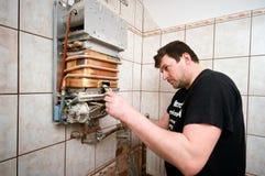 Регулировка печи газа стоковая фотография rf