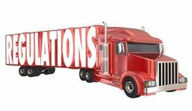 Регулировки перевозя правила на грузовиках законов доставки транспорта иллюстрация штока