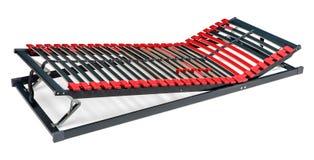 Регулируемые предкрылки кровати для latoflex - основание машинной плиты и тюфяка стоковое фото