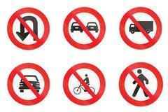 Регулирующие знаки используемые в Уругвае Стоковое Изображение
